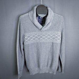 American Rag Sweater Size Medium Gray Mens Shawl